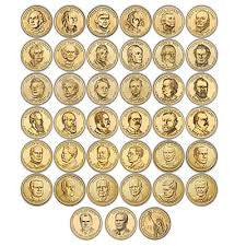 2007-2016 Set of 112 BU Presidential Dollars