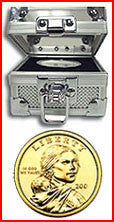 Fort Knox Box With BU Sacagawea Dollar