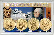 2008 P All 4 Presidents In 3X5 USA Holder