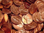 Roll of 2000D BU Bank Wrapped Lincoln Cents
