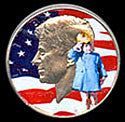 1964 Colorized JFK & JFK Jr BU Kennedy Half Dollar