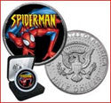 Spider-Man BU Kennedy Half Dollar