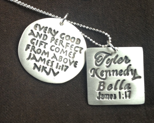 Custom Necklace--Scripture, Names, Words...