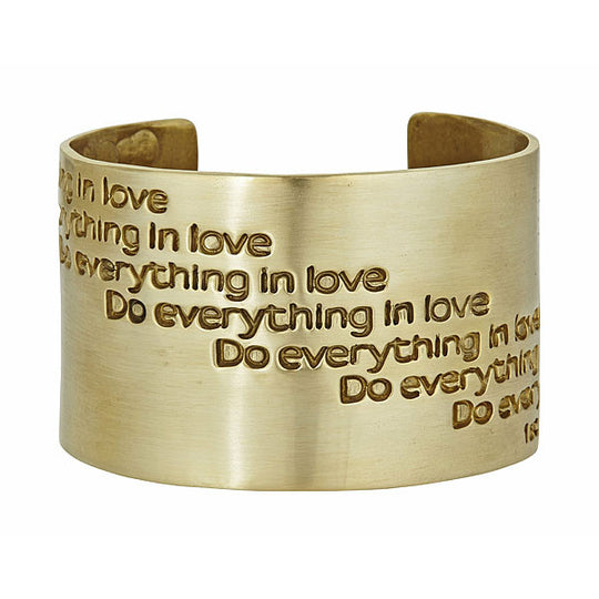 Do Everything in Love Cuff