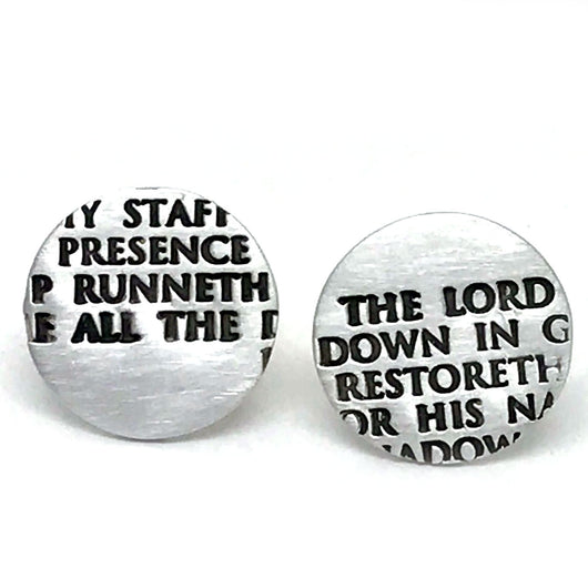 23rd Psalm Fragment Cufflinks