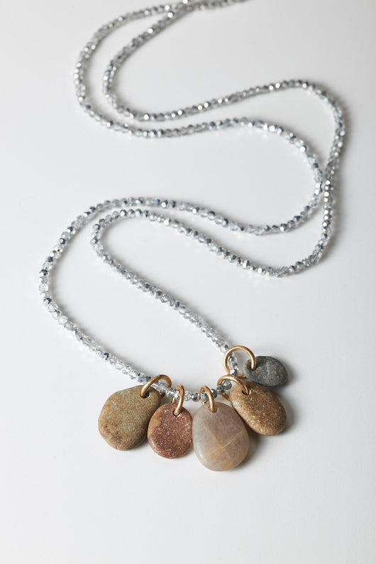 Five Smooth Stones Necklace