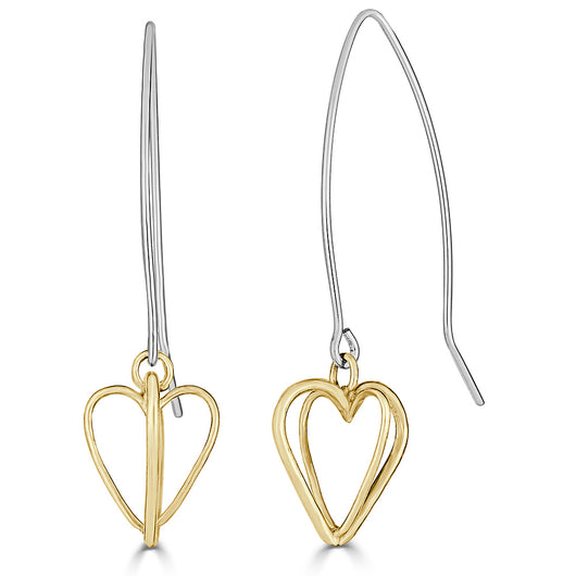 Interconnecting Heart Earrings