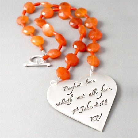 Perfect Love Necklace (1st John 4:18)