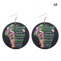 Phenomenal Women Painted Earrings