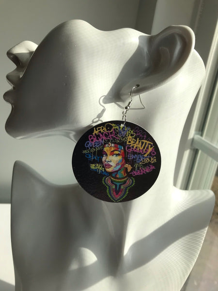 Adventurous Street Art Queen Earrings