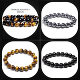Hematite, Obsidian, & Tiger's Eye Rock Art For Your Wrist