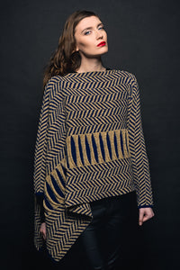 Áine Herringbone Sweater Wrap -  Mary-Anne's Irish Gift Shop