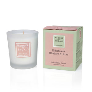 Small Scented Candle - Elderflower Rhubarb & Rose -  Brooke & Shoals