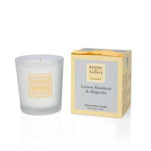 Small Scented Candle - Lemon Mandarin & Magnolia -  Brooke & Shoals
