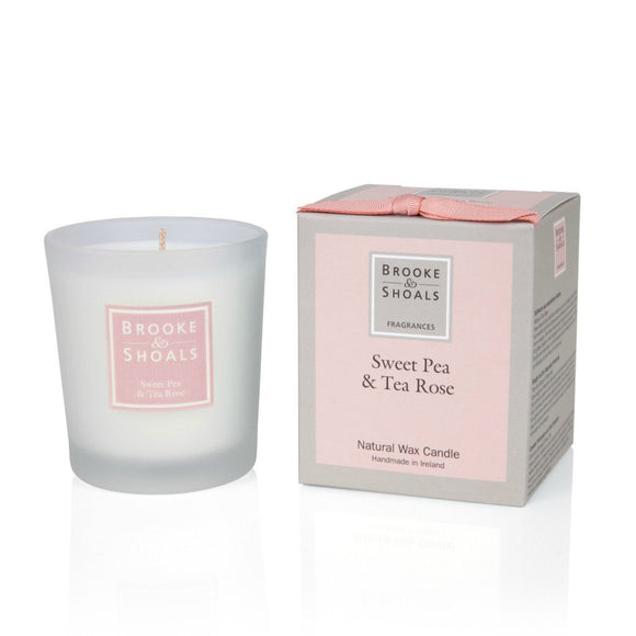 Small Scented Candle - Sweet Pea & Tea Rose -  Brooke & Shoals