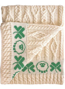 Baby Aran Cable Knit Blanket -  Mary-Anne's Irish Gift Shop