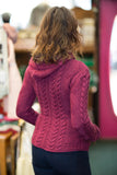 Aran Cable Knit Hooded Sweater
