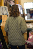 Microfibre Quilted Barn Jacket lined with Irish Tweed