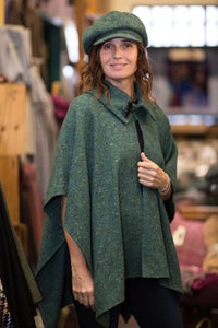 Handwoven Studio Donegal Irish Tweed Cape with Toggle