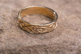 14K Celtic Le Cheile Swans Wedding Band