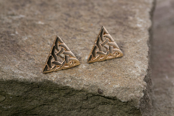 10K Celtic Knot Stud Earrings