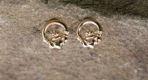 14K Claddagh Tiny Stud Earrings