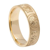 Celtic Warrior Shield Gents Wedding Band