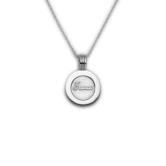 Enibas Happiness....Sonas Coin Stering Silver Pendant