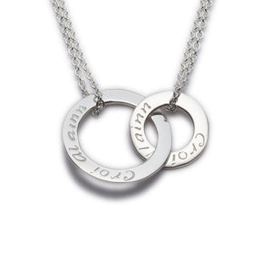 Enibas Croí álainn....a beautiful heart double pendant.. Sterling Silver