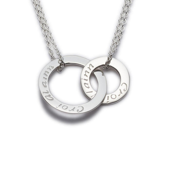 Enibas Croí álainn....a beautiful heart double pendant.. Sterling Silver -  Enibas