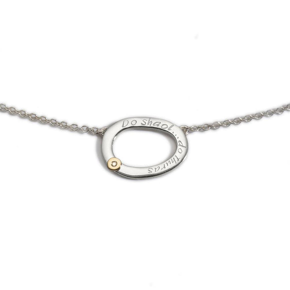 Enibas Your Life.. Your Journey...Diamond Set Small Pendant -  Enibas