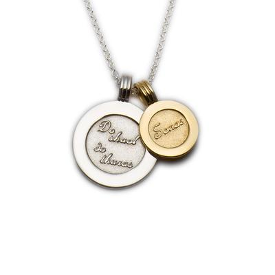 Enibas Happiness Coins Pendant....Sterling silver and gold coins.