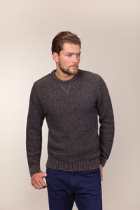 Fisherman Out of Ireland Gents Seed Stitch Crew -  Fisherman Out of Ireland