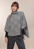 Fisherman Out of Ireland Shadow Blocked Funnel Neck Poncho/Sweater -  Fisherman Out of Ireland