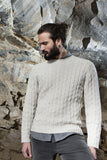 Gents Fisherman Cable Merrino & Cashmere Crew -  Fisherman Out of Ireland