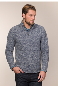 Fisherman Out of Ireland Gents Half Zip Merino Cashmere Sweater -  Fisherman Out of Ireland