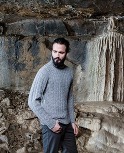 Gents Fisherman Cable Merrino & Cashmere Polo Neck Sweater -  Fisherman Out of Ireland