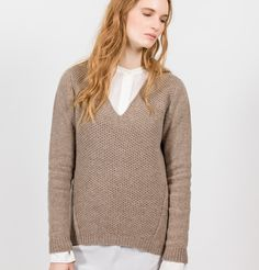 Fisherman Out of Ireland Ladies V Neck Sweater -  Fisherman Out of Ireland