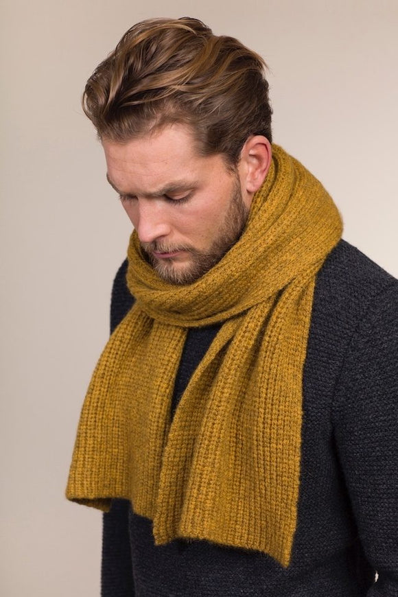 Fisherman Out of Ireland Honeycomb Ribbed Scarf -  Fisherman Out of Ireland