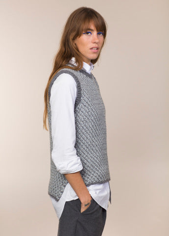 Fisherman Out of Ireland Chunky Seed Stitch Pullover Vest -  Fisherman Out of Ireland