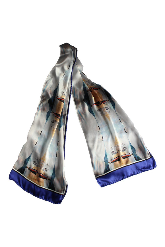 Daniel O'Connell's Derrynane Silk Scarf -  House of Kerry