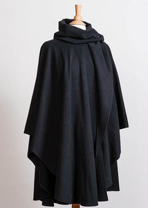 Cashmere and Wool Cape with Hood -  Jimmy Hourihan