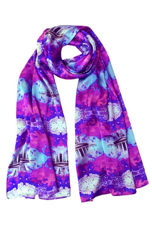 Jennifer Rothwell GPO (general post office) Pink Print Silk Scarf -  Jennifer Rothwell