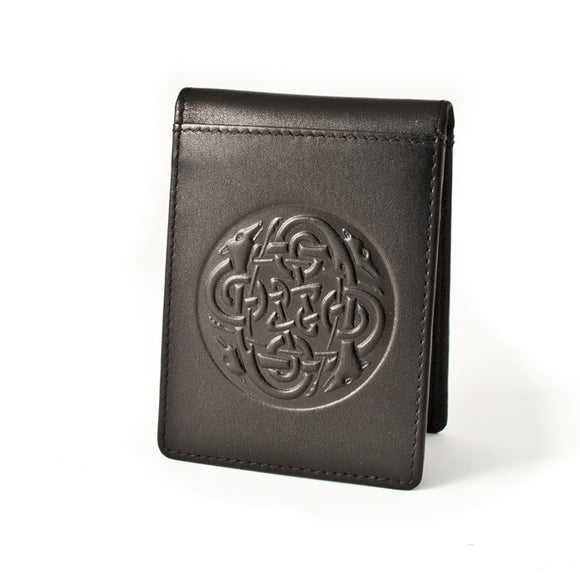 Leather Money Clip/Wallet Celtic Eternity Knot