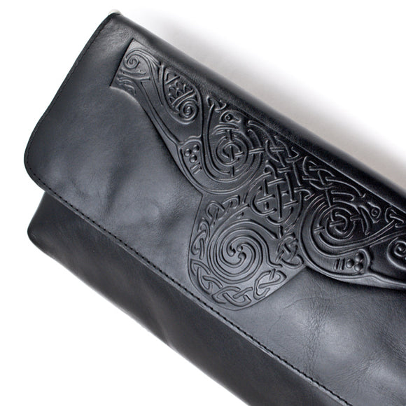 Celtic Knot Leather Clutch Bag