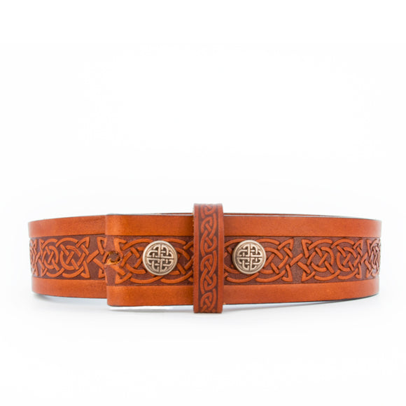 Celtic Knot Brown Leather Belt