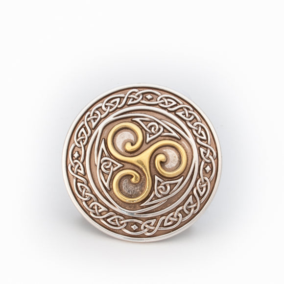 Celtic Triskel Belt Buckle -  Lee River