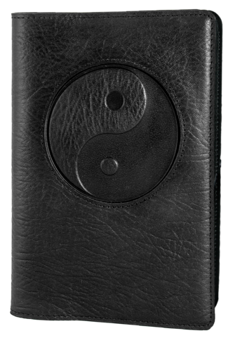 Leather Yin & Yang Refillable Journal -  Mary-Anne's Irish Gift Shop