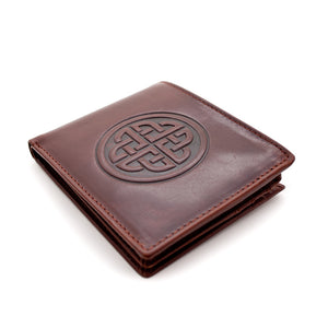 Leather Wallet with a Celtic Eternity Knot -  Lee River
