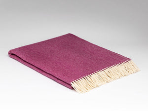 McNutt of Donegal Super Soft Merino Wool Cranberry Herringbone Blanket/Throw -  McNutts of Donegal